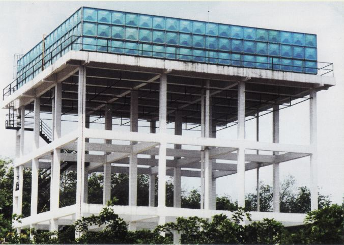 Elevated Water Tank On Concrete Tower Support Manufacturer